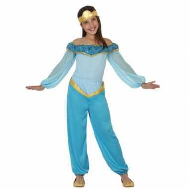 Blauw arabische prinses carnavalskleding meisjes