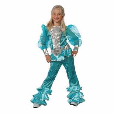 Blauw dancing queen carnavalskleding meisjes