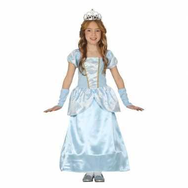 Blauw prinsessen carnavalskleding meisjes