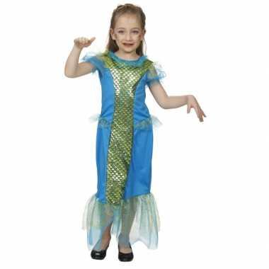 Blauw zeemeermin carnavalskleding kind meisjes