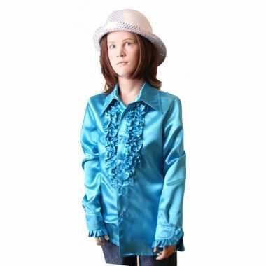 Blauwe hippie blouse meisjes carnavalskleding