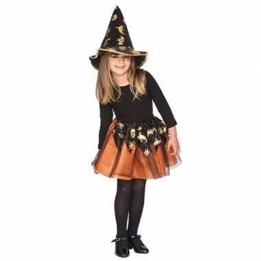 Carnavalskleding oranje heksenset meisjes