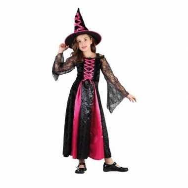 Carnavalskleding roze heksen carnavalskleding meisjes