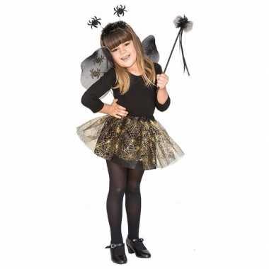 Carnavalskleding zwarte spin heksenset meisjes