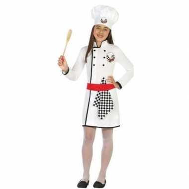 Chef kok uniform carnavalskleding meisjes