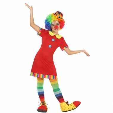 Clown floppy carnavalskleding meisjes