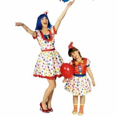 Clowns carnavalskleding meisjes