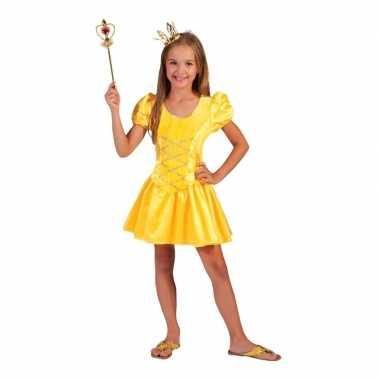 Geel prinsessen carnavalskleding meisjes