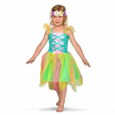 Gekleurd feeen carnavalskleding meisjes