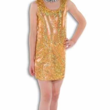 Gouden glitter carnavalskleding meisjes
