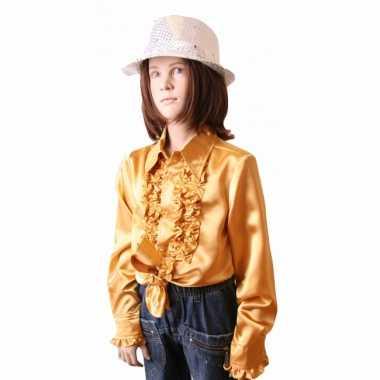 Gouden hippie blouse meisjes carnavalskleding