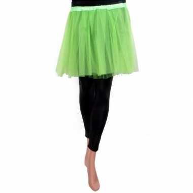 Groen meisjes verkleed rokje carnavalskleding
