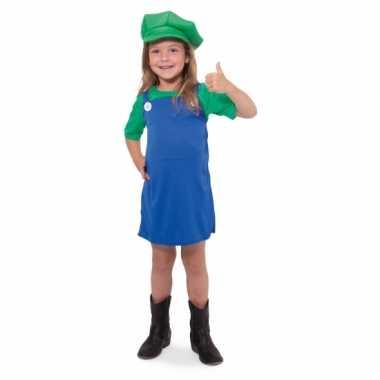 Groene loodgieter carnavalskleding meisjes
