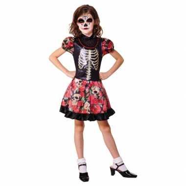 Halloween dag dood carnavalskleding meisjes