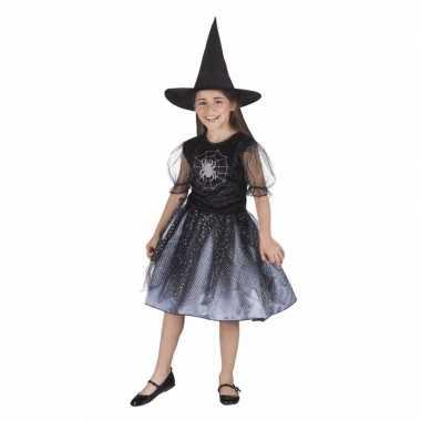 Halloween kinder carnavalskleding heks spin meisjes