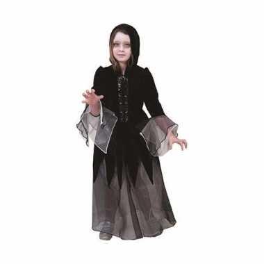Halloween meisjes verkleed carnavalskleding vampier zwart