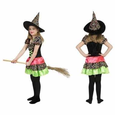 Heksen carnavalskleding hoed meisjes