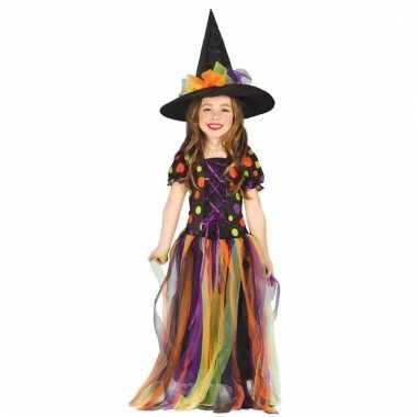 Heksencarnavalskleding regenboog carnavalskleding meisjes