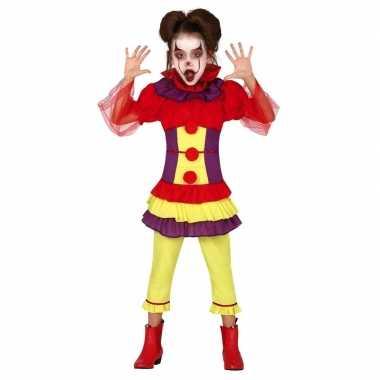 Horror clown verkleed carnavalskleding meisjes