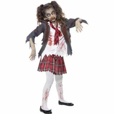Horror schoolmeisje carnavalskleding meisjes