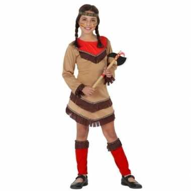 Indianen carnavalskleding chinouk meisjes rood