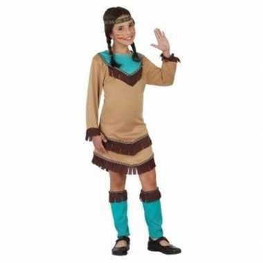 Indianen verkleed carnavalskleding chinouk meisjes blauw