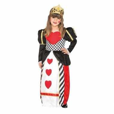 Kaartenkoningin harten carnavalskleding meisjes