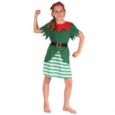 Kerst elf carnavalskledings meisjes