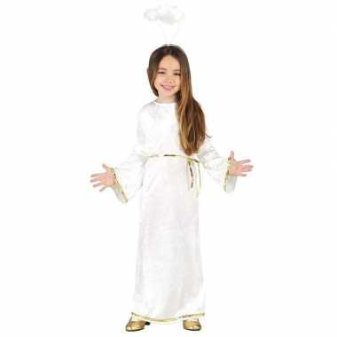 Kerst engelen carnavalskleding aureool/halo meisjes