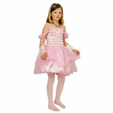 Korte roze prinsessencarnavalskleding meisjes