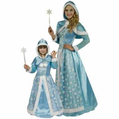 Lichtblauwe sneeuw prinsessen carnavalskleding meisjes