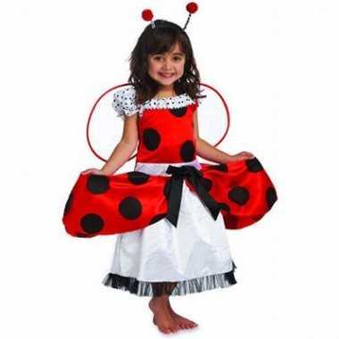 Lieveheersbeestje kinder carnavalskleding meisjes