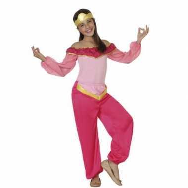 Luxe roze arabische prinses carnavalskleding meisjes