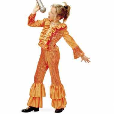 Oranje glitter carnavalskleding meisjes