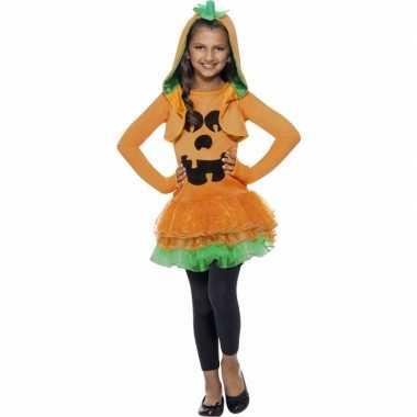 Oranje pompoenen carnavalskleding meisjes