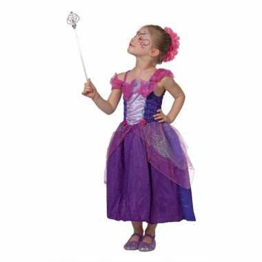 Paarse sprookjes carnavalskleding meisjes