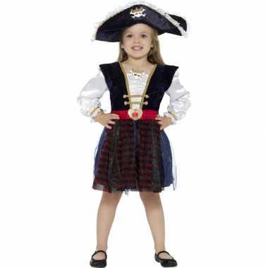 Piraten carnavalskleding glitters meisjes