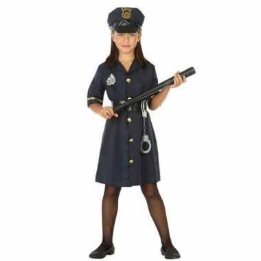 Politie agent uniform carnavalskleding meisjes