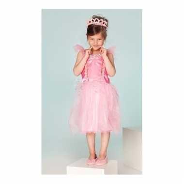Prinsessen carnavalskleding clancy roze meisjes