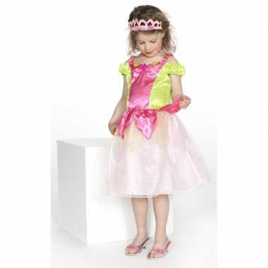 Prinsessen carnavalskleding kimberly roze groen meisjes