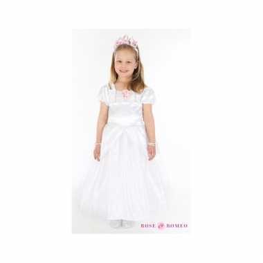 Prinsessen carnavalskleding lindy wit meisjes