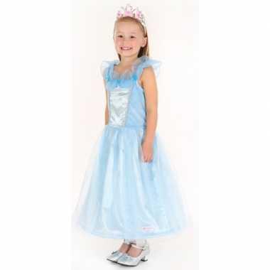 Prinsessen carnavalskleding saphira blauw meisjes