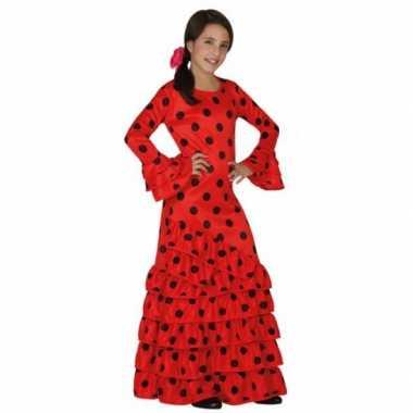 Rode flamenco carnavalskleding meisjes