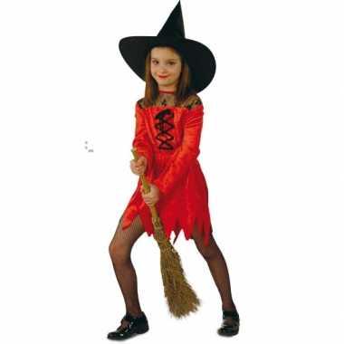 Rode heksencarnavalskleding meisjes