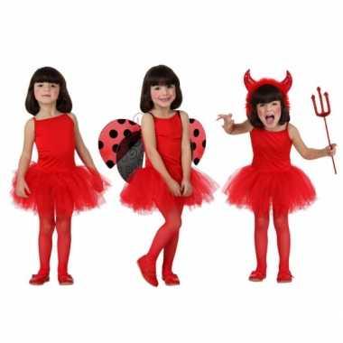 Rood ballet carnavalskleding meisjes