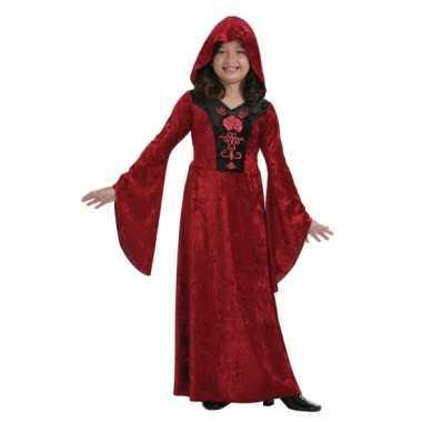 Rood halloween vampier carnavalskleding meisjes