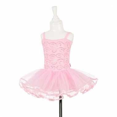 Roze balleria carnavalskleding pailletten meisjes