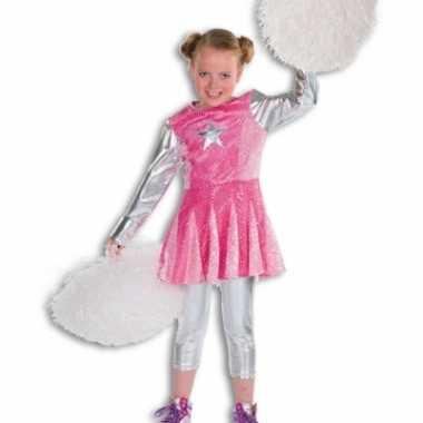 Roze cheerleaders carnavalskleding meisjes