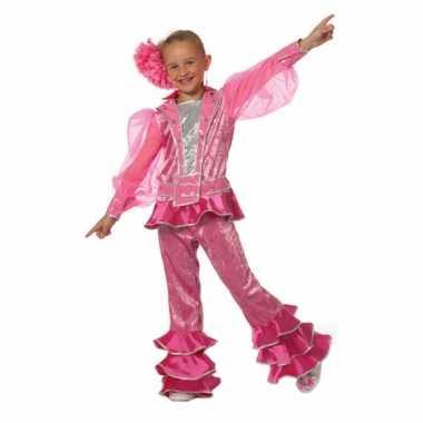 Roze disco carnavalskleding meisjes