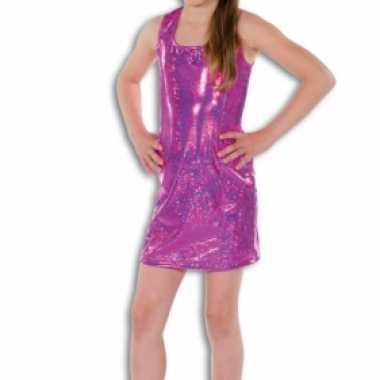 Roze glitter carnavalskleding meisjes